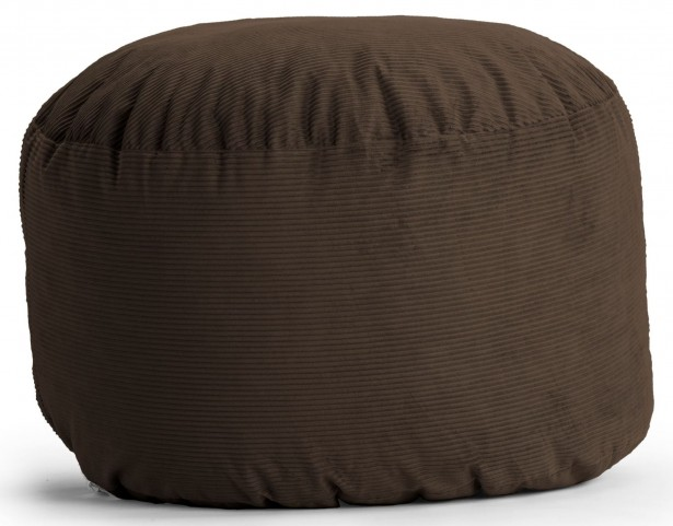 Big Joe King Fuf Chocolate Wide Wale Corduroy Bean Bag