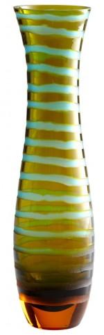 Stripe Blue/Orange Large Vase