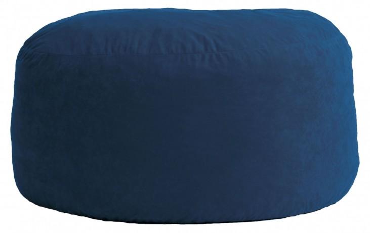 Big Joe Large Fuf Blue Sky Comfort Suede Bean Bag
