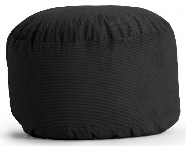 Big Joe Large Fuf Black Wide Wale Corduroy Bean Bag