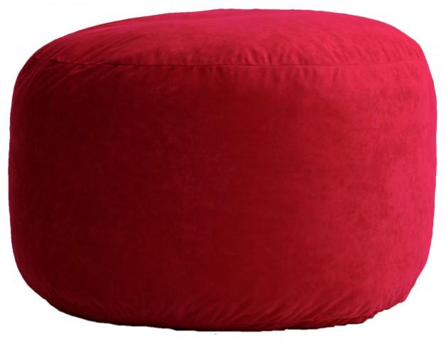 Big Joe Medium Fuf Sierra Red Comfort Suede Bean Bag