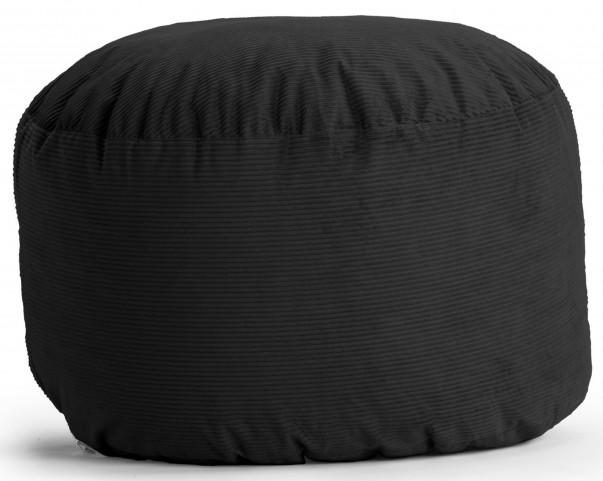 Big Joe Medium Fuf Black Wide Wale Corduroy Bean Bag