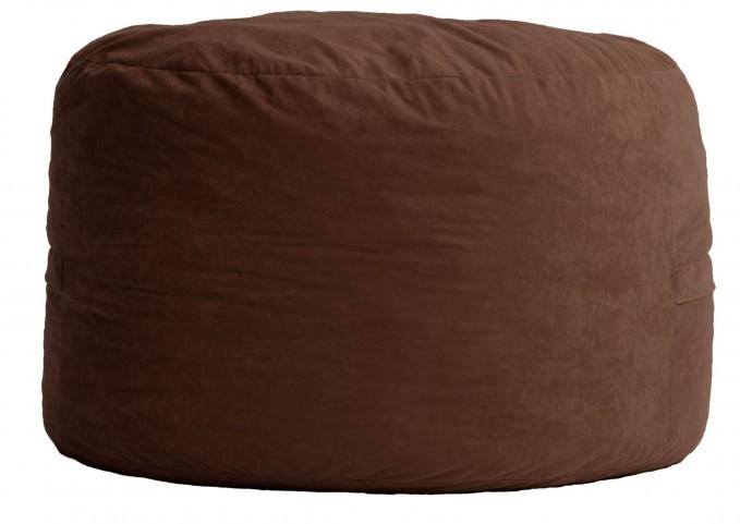 Fuf Small Espresso Comfort Suede Bean Bag