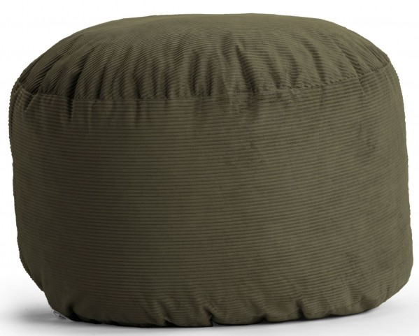 Fuf Small Pewter Wide Wale Corduroy Bean Bag