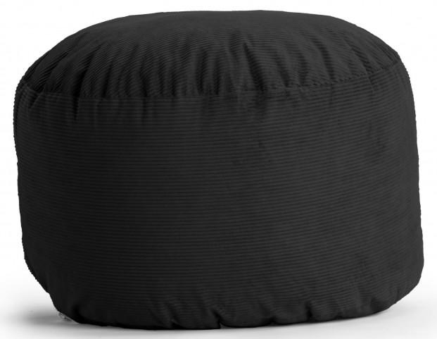 Fuf Small Black Wide Wale Corduroy Bean Bag
