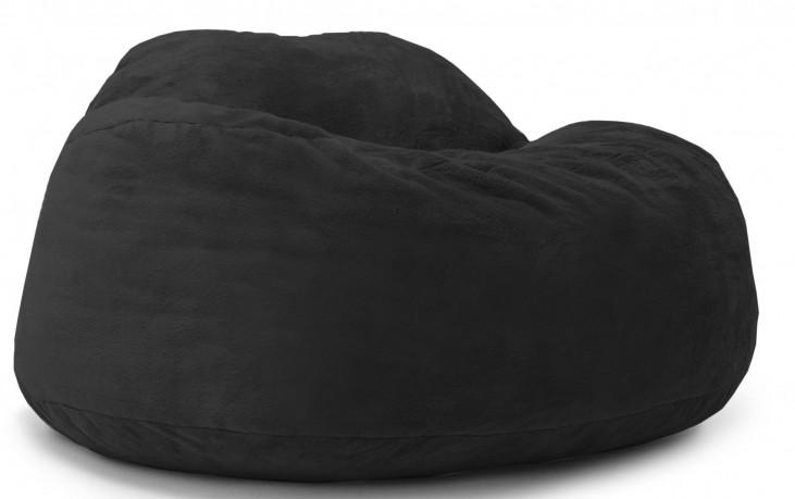 Big Joe Chillum Cloud 9 Black Short TED Fur Chair