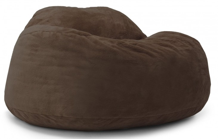 Big Joe Chillum Cloud 9 Chocolate Short TED Fur Chair