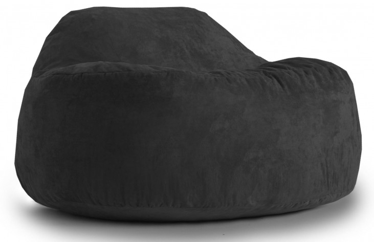 Big Joe Chillum Cloud 9 Black Onyx Suede Comfort Chair