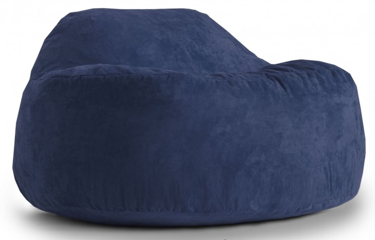 Big Joe Chillum Cloud 9 Blue Sky Suede Comfort Chair