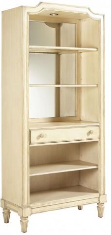 European Cottage Vintage White Bookcase