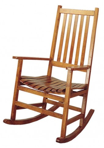 Oak Finish Porch Rocking Chair 4511