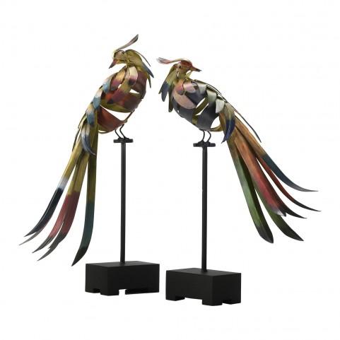 Multicolored Birds 2Pcs.