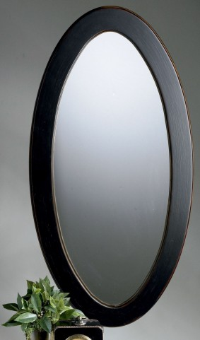 Mozart Cafe Noir Oval Mirror