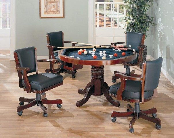Gaming 3 In 1 Cherry Poker Bumper Pool Dining Set - 100201
