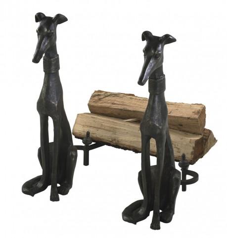 Decorative Dog Andirons Set of 2