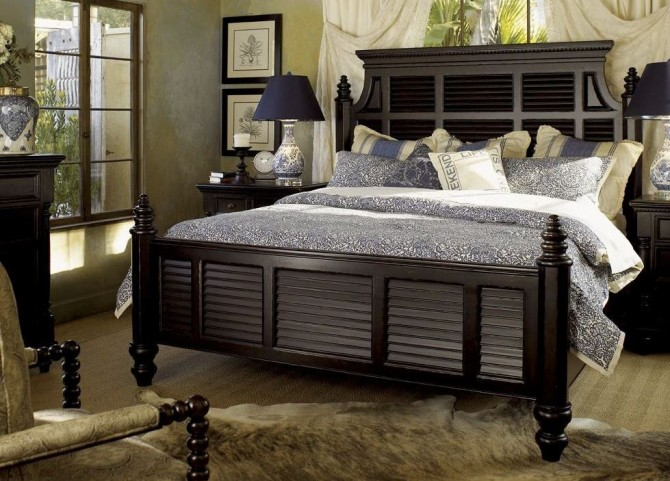 Kingstown Rich Tamarind Malabar Panel Bedroom Set