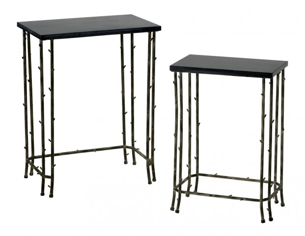Bamboo Black Nesting Tables