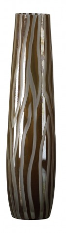 Cafe Etched Medium Vase