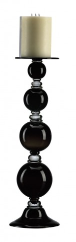 Black Globe Large Candle Holder