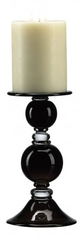 Black Globe Small Candle Holder