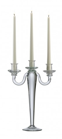 Clear 3 Light Candelabra