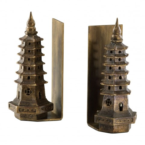 Pagoda Bookends 2 Piece