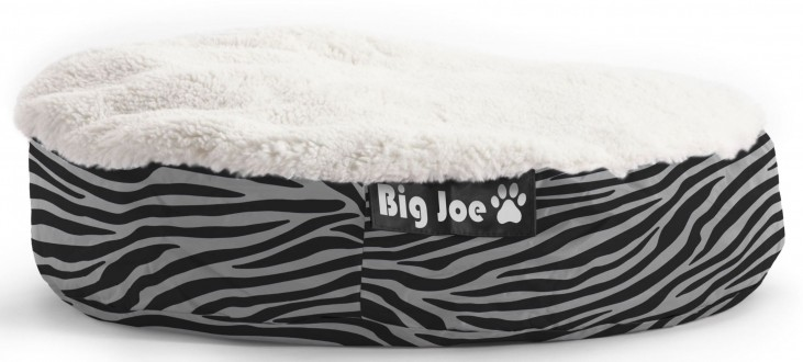 Big Joe Pet Bed Small Round Zebra SmartMax