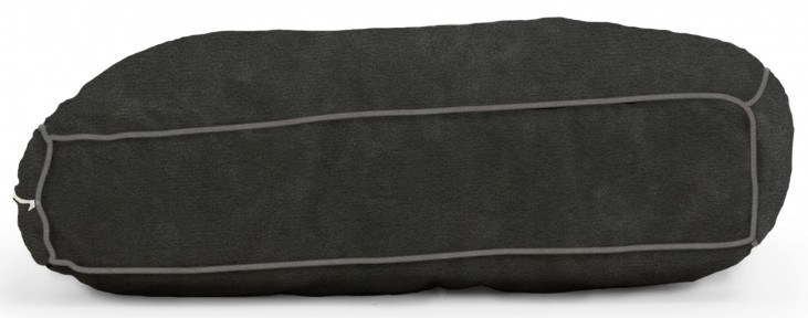 Big Joe Wuf Fuf Pet Bed Small Pillow Black Onyx Microsuede