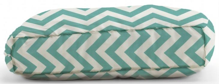 Big Joe Wuf Fuf Pet Bed Small Pillow Zig Zag Turquoise Twill