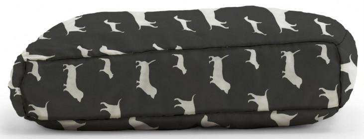 Big Joe Wuf Fuf Pet Bed Small Pillow Best Friends Black Twill
