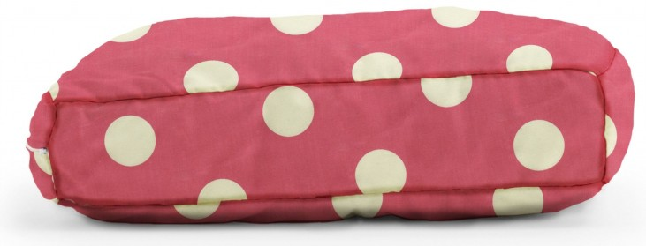 Big Joe Wuf Fuf Pet Bed Small Pillow Pink with White Dot Twill
