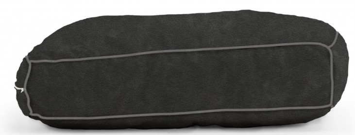 Big Joe Wuf Fuf Pet Bed Medium Pillow Black Onyx Microsuede