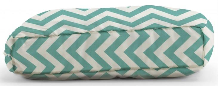 Big Joe Wuf Fuf Pet Bed Medium Pillow Zig Zag Turquoise Twill