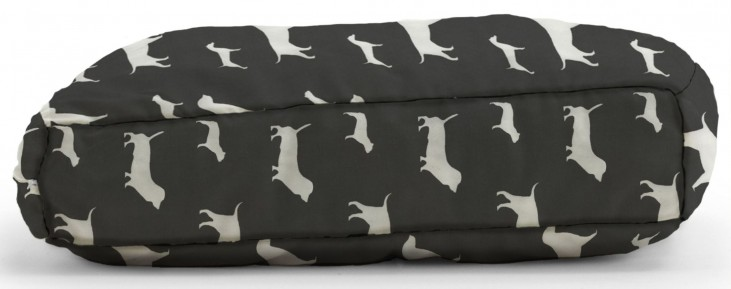 Big Joe Wuf Fuf Pet Bed Medium Pillow Best Friends Black Twill