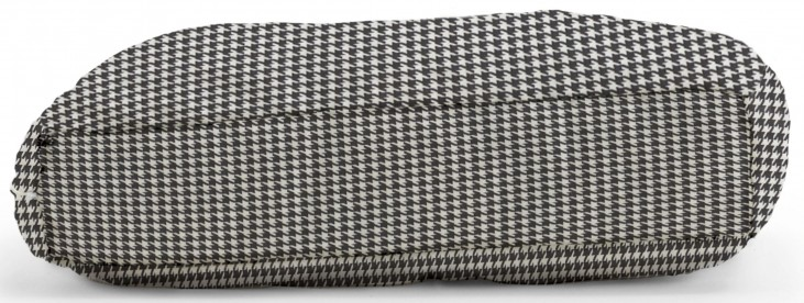 Big Joe Wuf Fuf Pet Bed Large Pillow Houndstooth Black Twill
