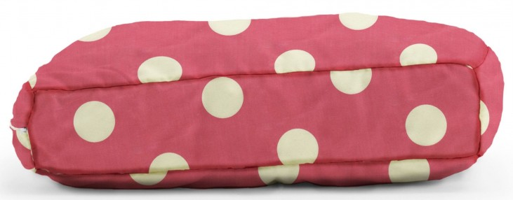 Big Joe Wuf Fuf Pet Bed Large Pillow Pink with White Dot Twill