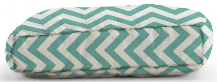 Big Joe Wuf Fuf Pet Bed X-Large Pillow Zig Zag Turquoise Twill
