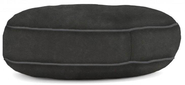 Big Joe Wuf Fuf Pet Bed Small Round Black Onyx Microsuede