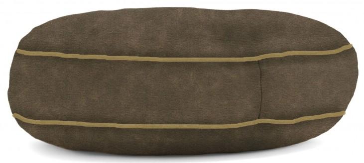 Big Joe Wuf Fuf Pet Bed Small Round Espresso Microsuede
