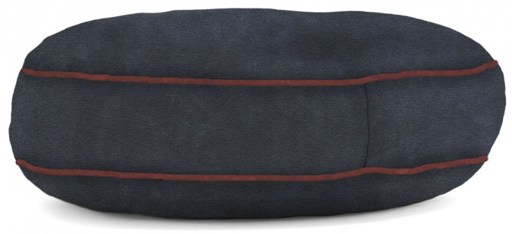 Big Joe Wuf Fuf Pet Bed Small Round Blue Sky Microsuede