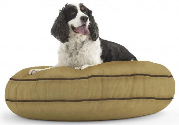 Big Joe Wuf Fuf Pet Bed Medium Round Sand Dune Microsuede