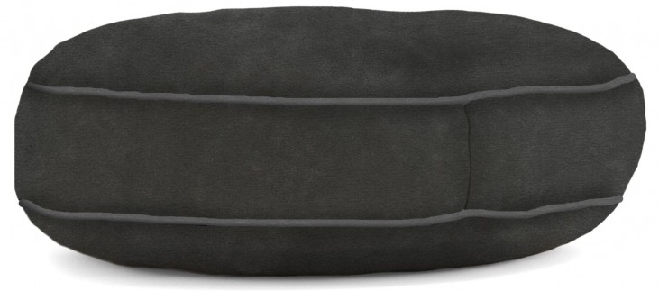 Big Joe Wuf Fuf Pet Bed Medium Round Black Onyx Microsuede