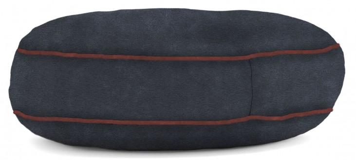 Big Joe Wuf Fuf Pet Bed Large Round Blue Sky Microsuede