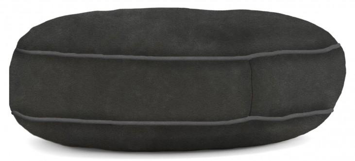 Big Joe Wuf Fuf Pet Bed X-Large Round Black Onyx Microsuede