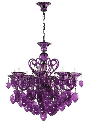 Bella Purple Vetro Chandelier