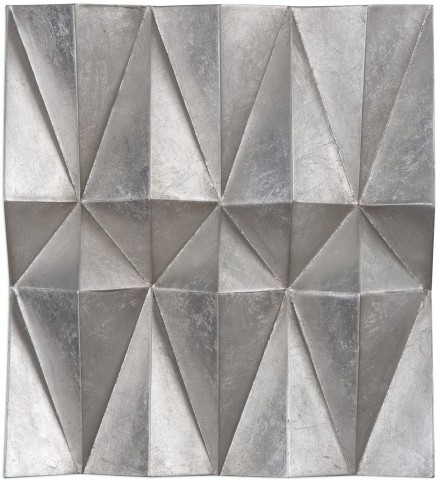 Maxton Gray Multi-Faceted Panels Set of 3