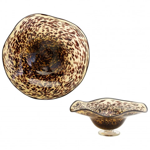 Art Glass Leopard Small Bowl