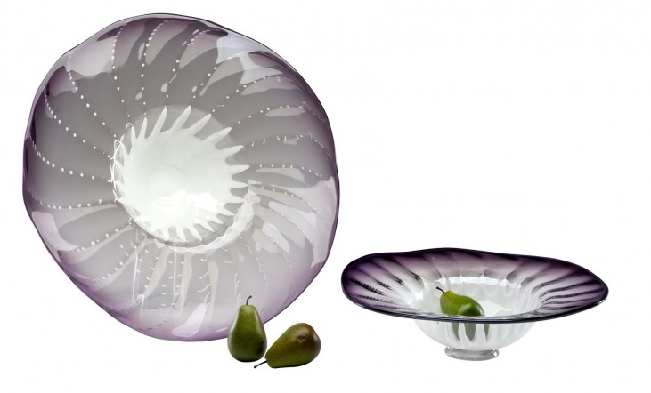 Art Glass Purple Small Bowl
