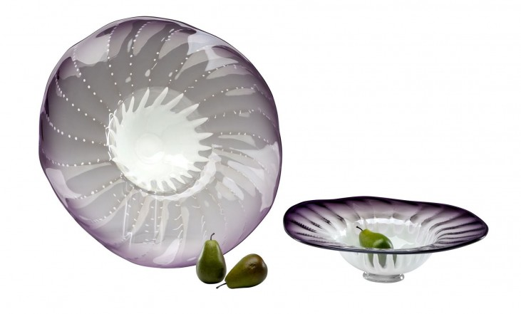 Art Glass Purple Large Bowl