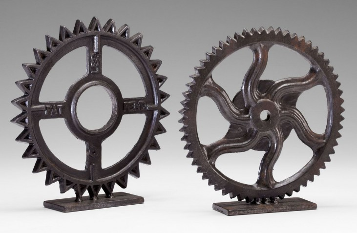 "Decorative Aged 6""H Gear Sculpture"